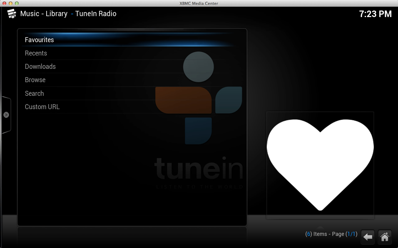 TuneIn Radio for Kodi